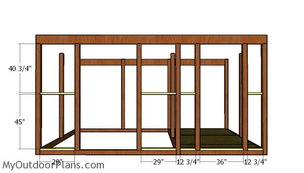 Front wall supports