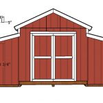 12×20 Raised Center Aisle Barn Shed Door Plans