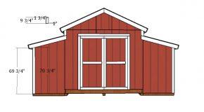 12×20 Raised Center Aisle Barn ShedDoor Plans