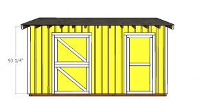 10×16 Horse Shed with Tack Room ShedDoors Plans