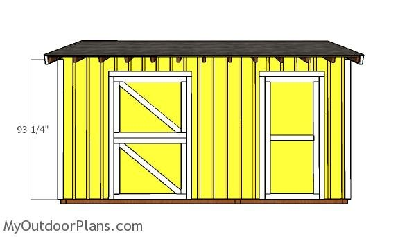 10x16 Horse Shed with Tack Room Shed Doors Plans