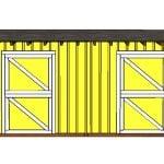 10×20 2 stall Horse Barn ShedDoor Plans