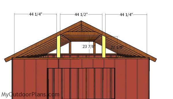 12x20 Raised Center Aisle Barn Shed Roof Plans
