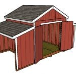 10×18 Raised Center Aisle Barn Shed Plans