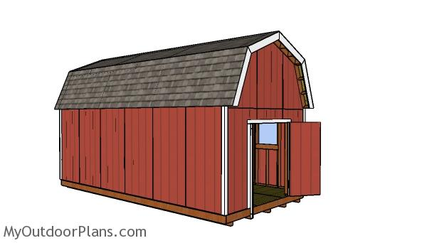 12x24 Gambrel Shed Plans Myoutdoorplans Free Woodworking