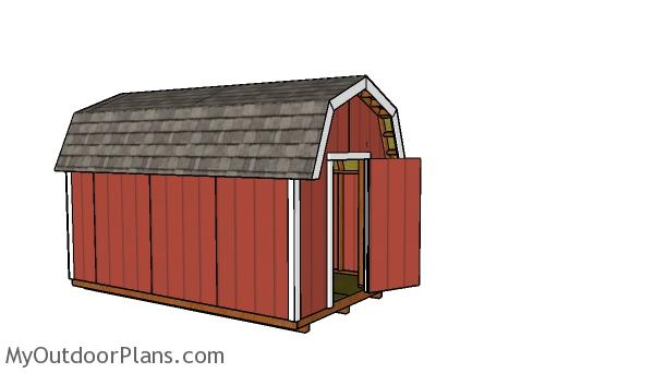 How to build a 8x14 gambrel shed