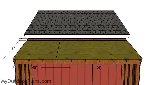Roof sheets for side sheds