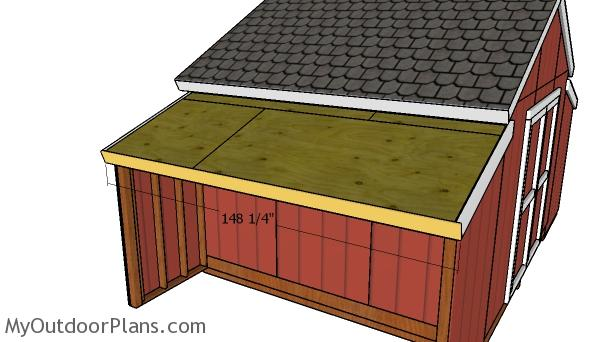 Roof trims for side sheds