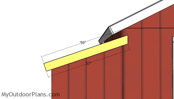 Side roof trims for side sheds