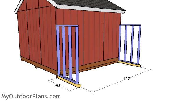 Side shed skids