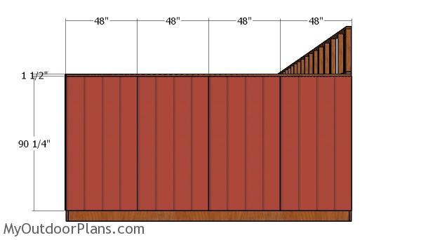 Side siding sheets