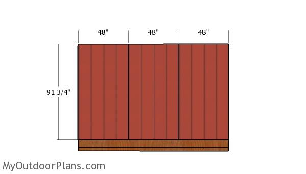 Side wall siding sheets
