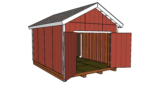 12x16 Shed with 2x6 Studs - Free Plans