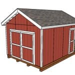 12x16 Shed with 2x6 Studs Plans