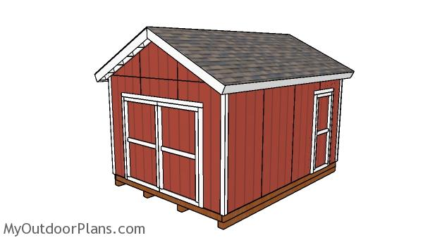 12×16 Gable Shed with 2×6 Studs Plans