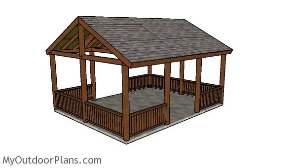 16x20 Picnic Shelter Roof Plans Myoutdoorplans Free