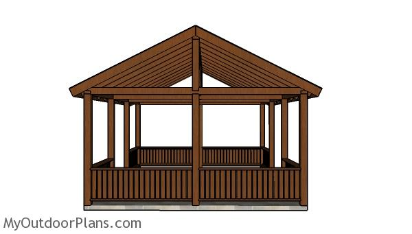 Do It Yourself Home Design: 16x20 Picnic Shelter Roof Plans