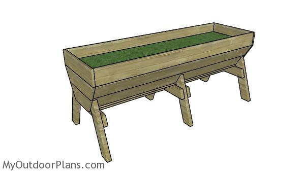 6' Vegetable Trug Plans