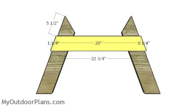 Assembling the a frame legs