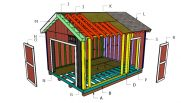12×16 Gable Shed with 2×6 Studs Roof Plans