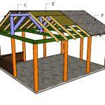 16×20 Picnic Shelter Roof Plans