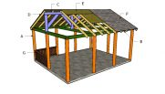 16×20 Picnic Shelter Roof Plans