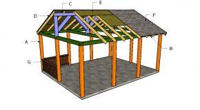 16×20 Picnic Shelter Plans