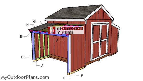 Building-the-side-run-in-shed