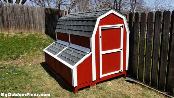 DIY 7 ft Barn Chicken Coop