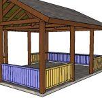 16×20 Picnic Shelter Railings