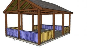 16×20 Picnic Shelter Railings