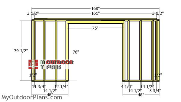 Front-wall-frame---6x14-shed