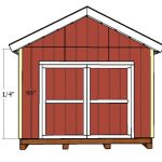 12×16 Gable Shed with 2×6 Studs Door and Trims Plans
