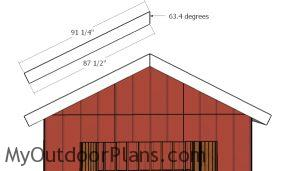 Gable roof trims