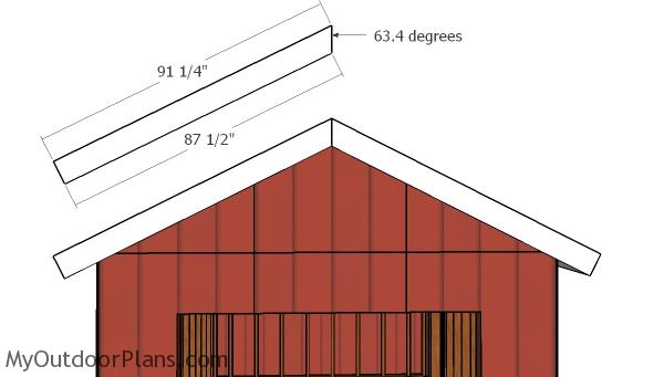 Gable roof trims