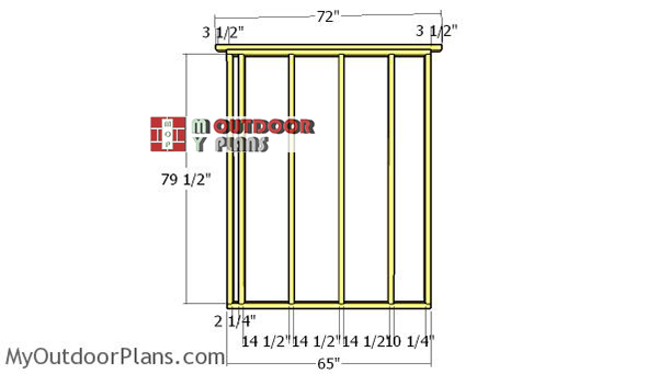 Side-wall-frame---6x14-lean-to-shed
