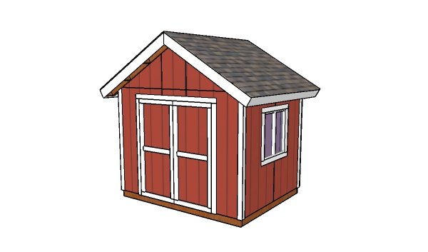 10x8 Gable Shed Plans