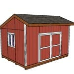 16×12 Saltbox Shed Plans