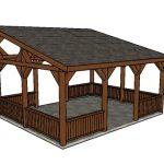 16×20 Lean to Pavilion Plans