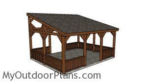 16x20 Lean to Pavilion Plans