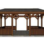 Lean to Pavilion Railings Plans