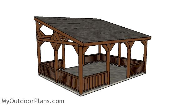 16×20 Lean to Pavilion Plans