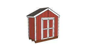 8×4 Gable Shed Plans