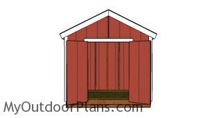 8x4 Gable Shed Plans - Inside view