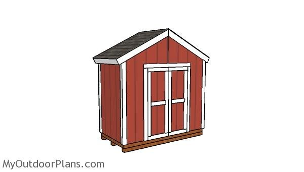 8x4 Gable Shed Plans