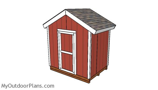 8x6 Gable Shed Plans