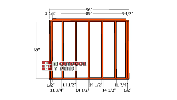 Back-wall-frame---8x4-shed