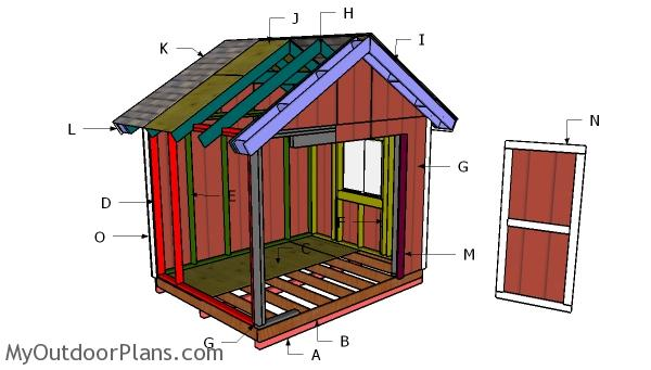 10x8 Gable Shed Roof Plans