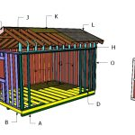 16×12 Saltbox Shed Roof Plans