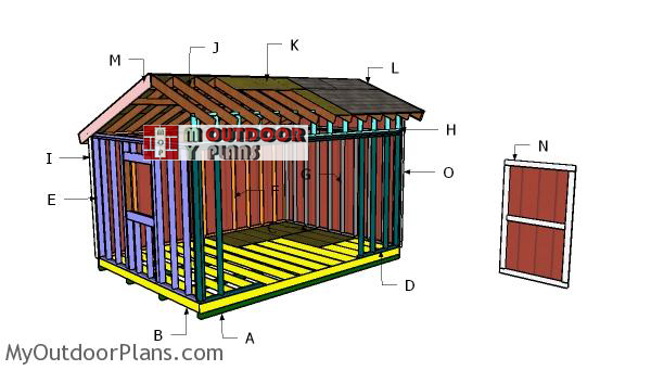 Building-a-12x16-saltbox-shed